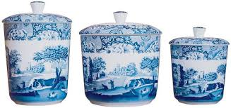 italian canisters kitchen spode blue italian canisters set of 3 co uk kitchen home