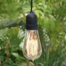 Outdoor Pendant Lighting 15ft Single Socket Black Weatherproof Outdoor Pendant Light Lamp