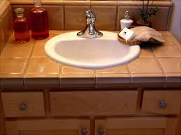 bathroom tile countertop ideas tiled bathroom counter with undermount sink bathroom counter top