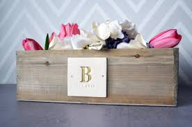 personalized wedding gift planter or wedding centerpiece planter box