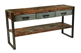 Sofa Table With Drawers Moti Furniture Reclaimed Wood And Metal Sofa Table 3