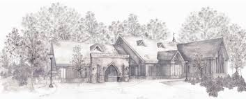 hand drawn architectural view of your home or business pine
