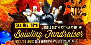 jungle brothers thanksgiving bowling fundraiser event roseland