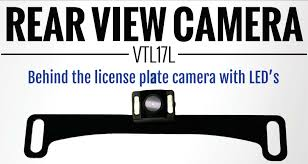 boyo vision vtl17l behind the license plate rearview camera with led u0027s