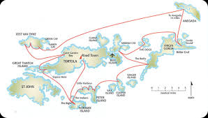 map of the bvi tortola bvi itinerary island sailing ltd