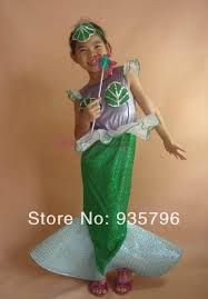 Mermaid Halloween Costume Toddler Dresses Holiday Party Picture Detailed Picture