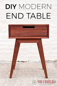 How To Build End Table Plans by Modern Diy End Table Side Table Fixthisbuildthat