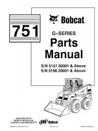 pdf bobcat 751 parts manual sn 515730001 and above sn 515620001