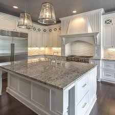 White Kitchen Cabinets And White Countertops Omg This Kitchen Cabinet Color And Style Counter Tops And Island