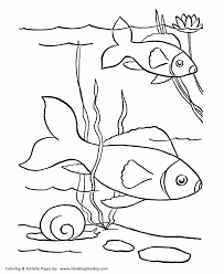 pet fish coloring pages free printable pet fish coloring pages