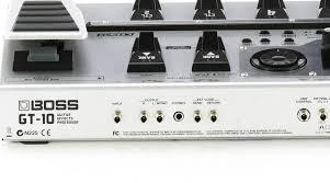 boss gt 10 guitar effects processor muziker si
