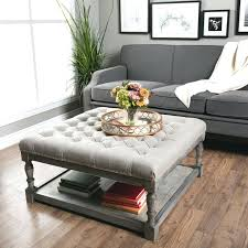 Cocktail Storage Ottoman Fascinating Coffee Table With Ottoman Underneath Taptotrip Me