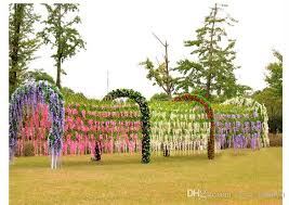 cheap garlands for weddings 2017 artificial wisteria vine rattan 110cm 75cm decorative bouquet