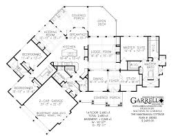European Floor Plans Nantahala Cottage Rustic Mountain House Plan