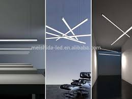 circular led light strip ceiling suspended circular aluminium profile for double width led