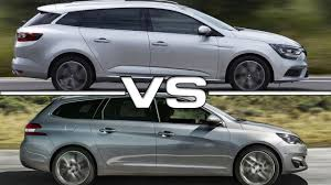 renault megane estate 2017 renault megane estate vs peugeot 308 sw youtube