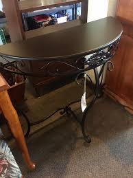 Metal Entry Table Espresso Colored Half Moon Metal Entry Table Only 35