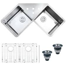 corner stainless steel kitchen sinks kitchen the home depot
