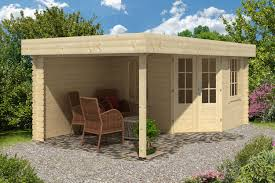 stig log cabin with side porch 3 0x2 5m 2 5m