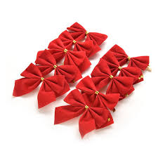 bags of christmas bows 12pcs bag gold christmas bow flannel tree hanging ornaments