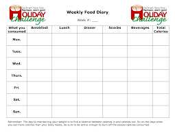printable daily food intake journal weekly food chart template dcbuscharter co