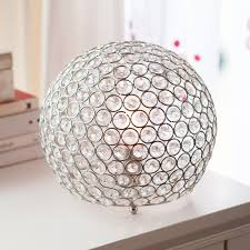 globe shaped crystal table lamp look 4 less and steals and deals