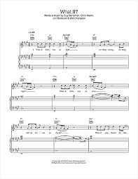 coldplay what if what if sheet music by coldplay piano vocal guitar 32250
