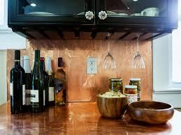 tin tile back splash copper backsplashes for kitchens decor tips black kitchen cabinet and copper backsplash with wine