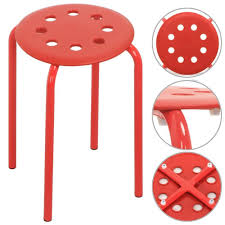amazon com go2buy 5 color portable plastic stackable stools round