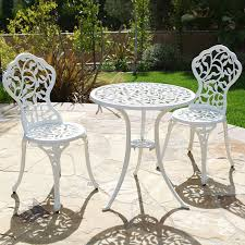 bistro sets outdoor patio furniture 3pc bistro set in antique outdoor patio furniture leaf design cast