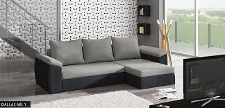 Ebay Furniture Sofa Corner Sofa Bed Dallas In Grey And Black With 1 Storage Free