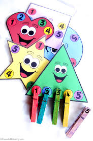 shapes counting and colors busy bag with printable