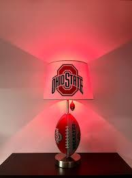 Ohio State Car Flags Ohio State Buckeyes Lamp Ncaa Man Cave Football Lamp Football