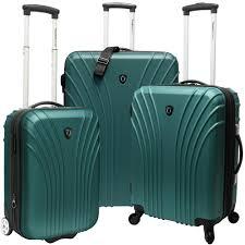 ultra light luggage sets traveler s choice 3 piece hardsided ultra lightweight luggage set