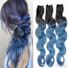 blue hair extensions unprocessed 8a grade 1b blue hair extensions wave peruvian