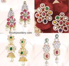 earrings in grt diamond earrings jewellery designs