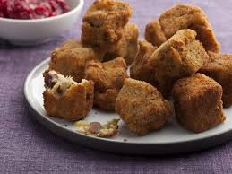 second day fried bites with cranberry sauce pesto recipe