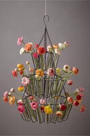 cascade chandelier from bhldn flowers test tubes wedding