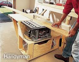 Table Saw Cabinet Plans Modular Workbench Garage Organization Pinterest Rolling