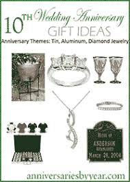 tenth anniversary gifts tenth anniversary 10th wedding anniversary gift ideas