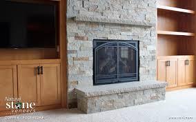 copper ledgestone fireplace natural stone veneers inc