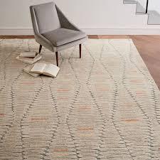 wool rug staggered diamond wool rug west elm