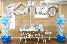 Centerpieces For Boy Baptism by Blue And White Baptism Party Ideas Baby Boy Baptism Display And