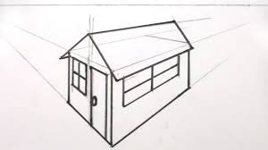 3d perspective drawing tutorial how to draw a room in one point