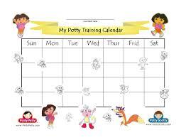 dora the explorer potty training calendar color potty
