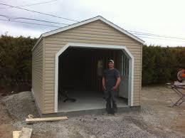 1 Car Garage Outdoor 1 Car Grey Wooden Portable Garage Costco With White Metal