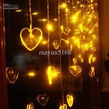 heart shaped christmas lights led curtain light 208 heart shaped christmas lights party decoration