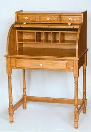 Small Oak Roll Top Desk Amish Made Solid Oak Mini Roll Top Desk Clayborne S Of Sc