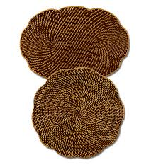 Placemats For Round Table Rattan Place Mats Both Oval U0026 Round Rattan Table Mats