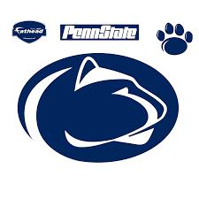 penn state alumni sticker fathead penn state nittany lions logo wall decal